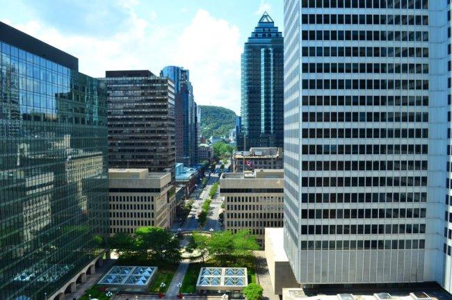 Blick vom Fairmont auf Montreal