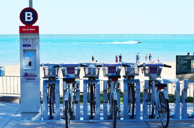 Fahrradverleih in Chicago