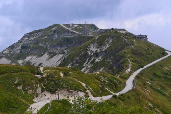 An Wochentagen ist auf dem Monte Grappa kaum jemand unterwegs