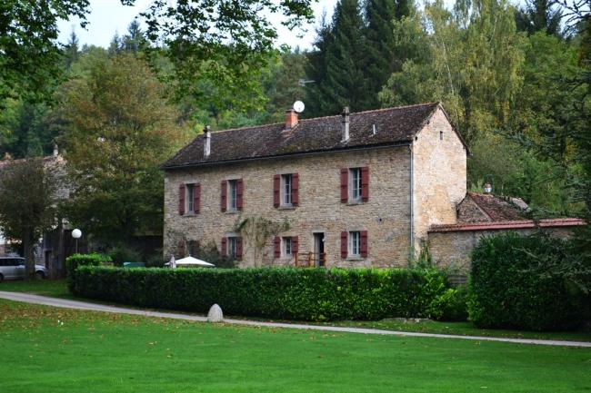 Das Haus der Cummings im Park von La Bussière