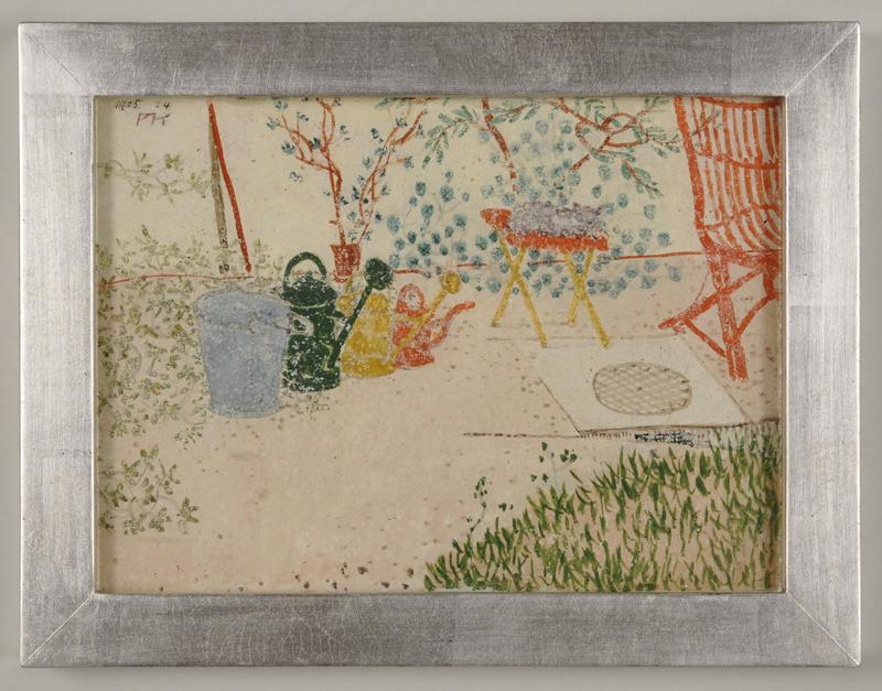 Paul Klee: Gartenscene, 1905 (Hinterglasmalerei)