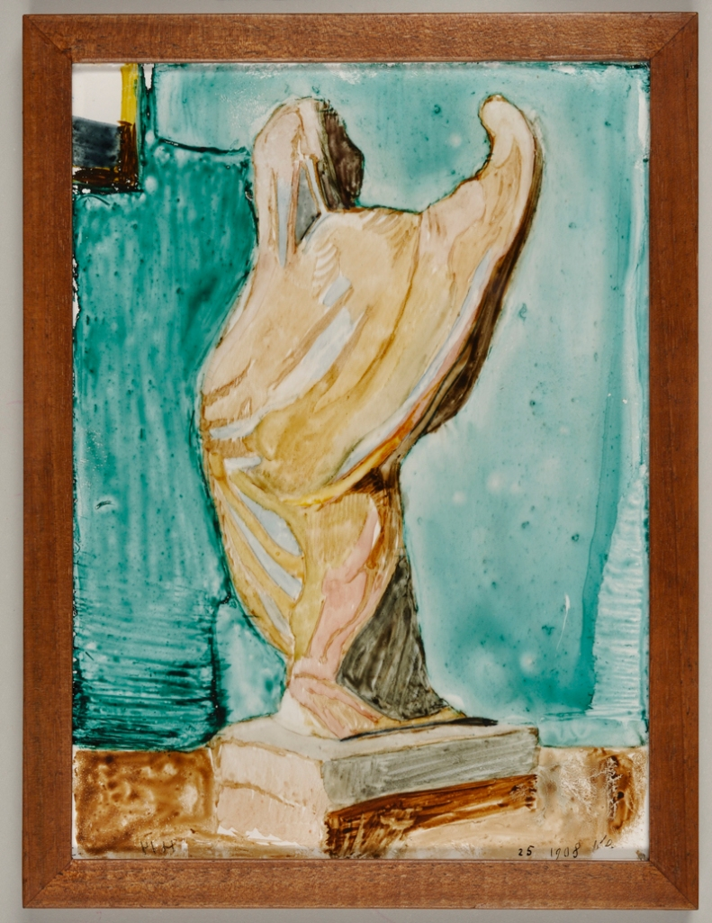 Paul Klee: Statuette, 1908 (Hinterglasmalerei)