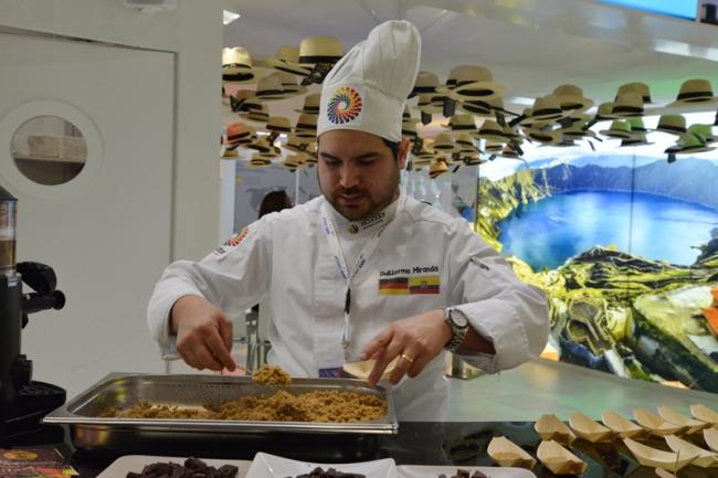 Der in Stuttgart ansässige ecuadorianische Koch Guillermo Miranda kochte Spezialitäten aus seinem Heimatland.