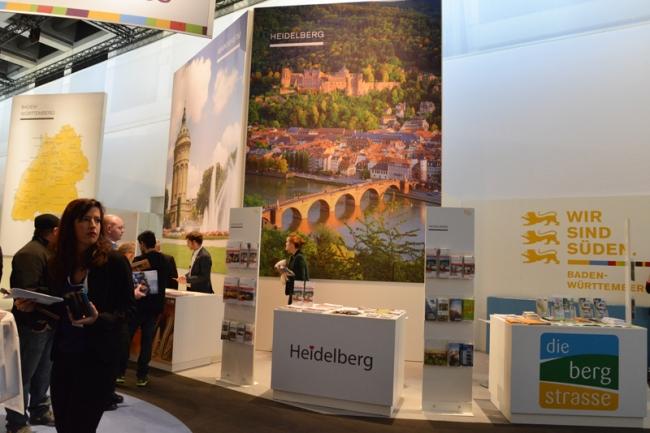 Deutschlands größte kleine Stadt, meine Heimatstadt Heidelberg, durfte auf der ITB natürlich nicht fehlen. Immerhin ist sie nach Berlin und München die weltweit bekannteste deutsche Stadt.
