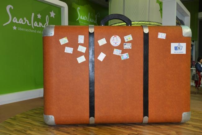 Am Riesenkoffer des Saarlands kam ich mehrmals täglich vorbei.