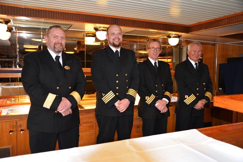 Die Crew der MS Lofoten.