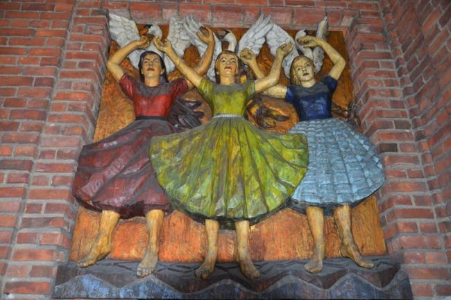Kunst am Osloer Rathaus.
