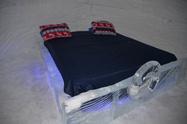 Zimmer im Schneehotel.