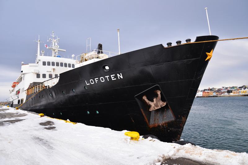 Auf der MS Lofoten von Kirkenes nachTrondheim