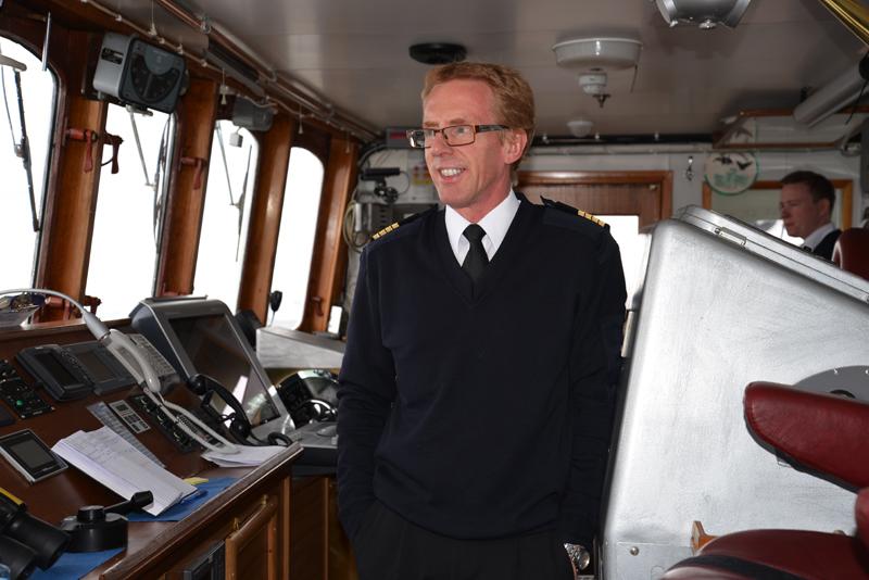 Hurtigruten-Kapitän Kapitän Eivind Lande.
