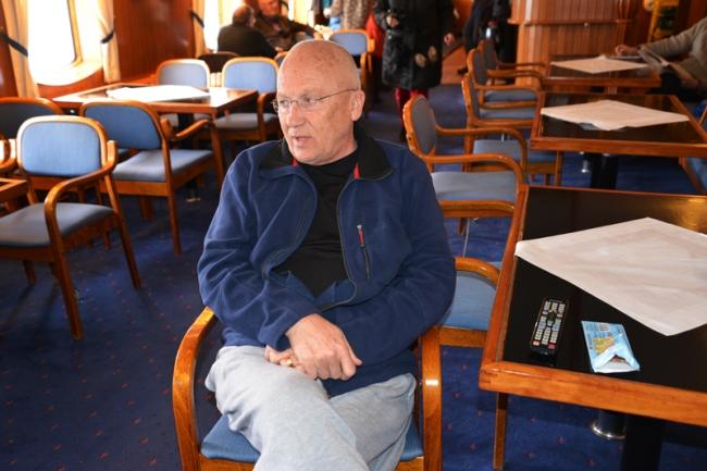 Stammgast auf der MS Lofoten Ove Nordenberg.