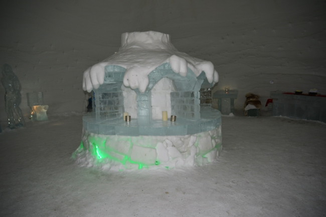 Lobby im Schneehotel.
