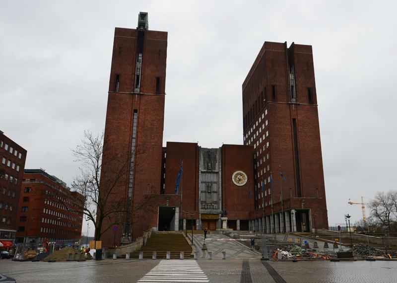 Osloer Rathaus.