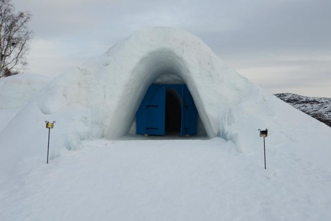 Eingang zum Schneehotel Kirkenes.