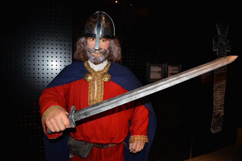 Wikinger im Historischen Zentrum.