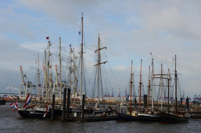 Blick vom Fischmarkt auf die Elbe.