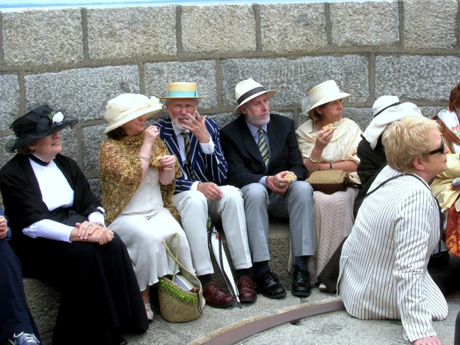 Joyce Museum on Bloomsday  - Group of people at the top of the tower