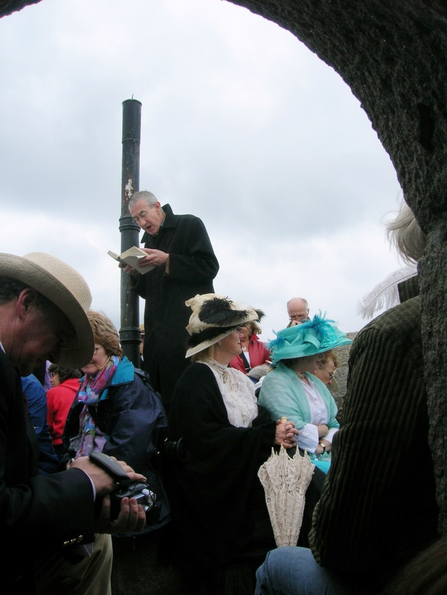 Joyce Tower on Bloomsday - readings from Ulysses with people in costume