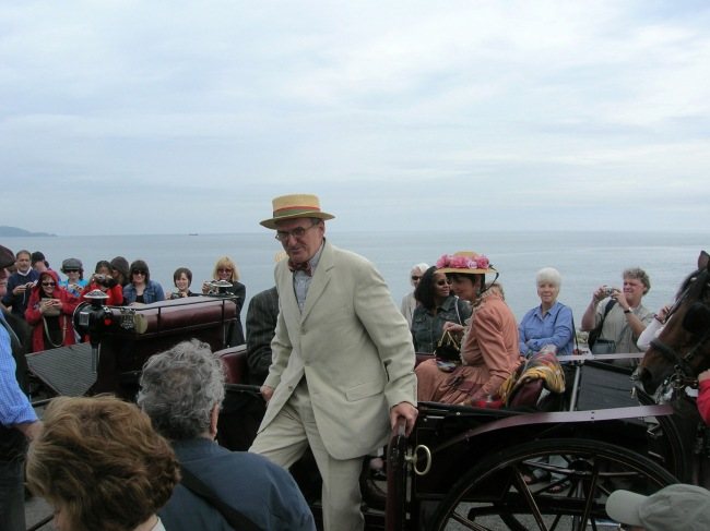 Jim Carroll arrives at the Joyce Tower on Bloomsday