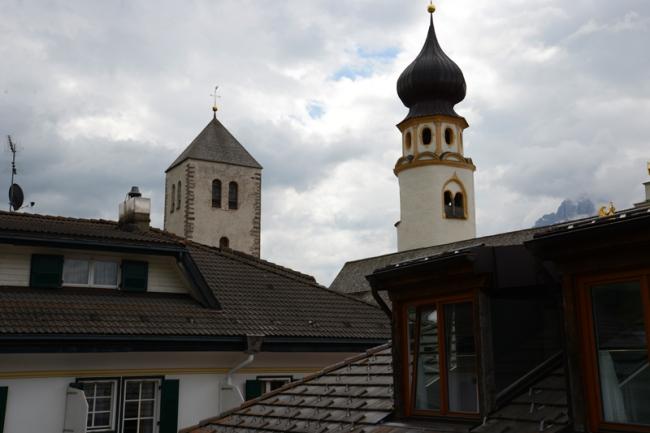 Die beiden Kirchtürme von Innichen.