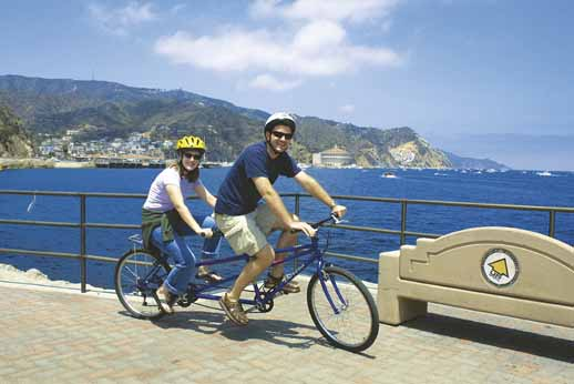 Das beliebteste Fortbewegungsmittel in Avalon ist das Rad.