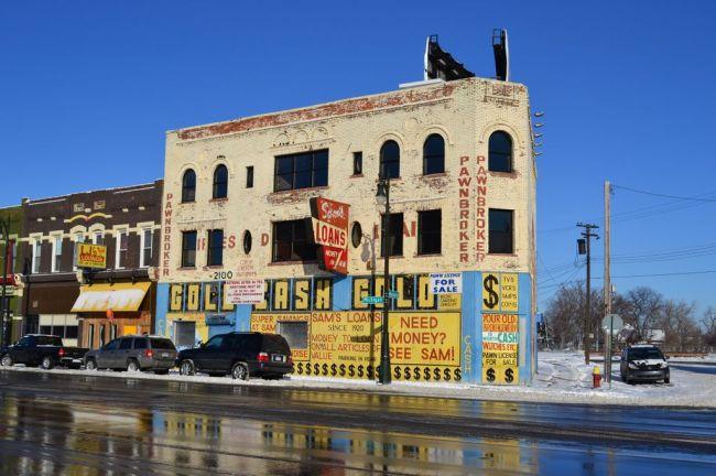 Bankrotter Pfandleiher in Detroit.