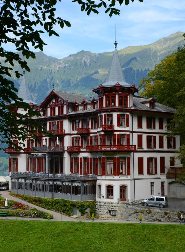 Grandhotel Giessbach im Berner Oberland.