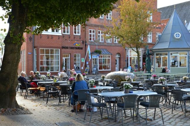 Marktplatz in Tønder.