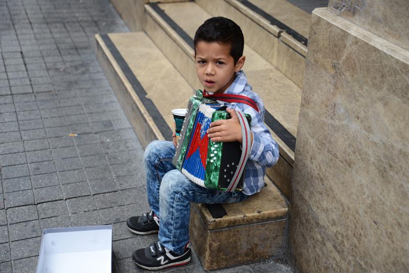 Syrischer Flüchtlingsjunge.