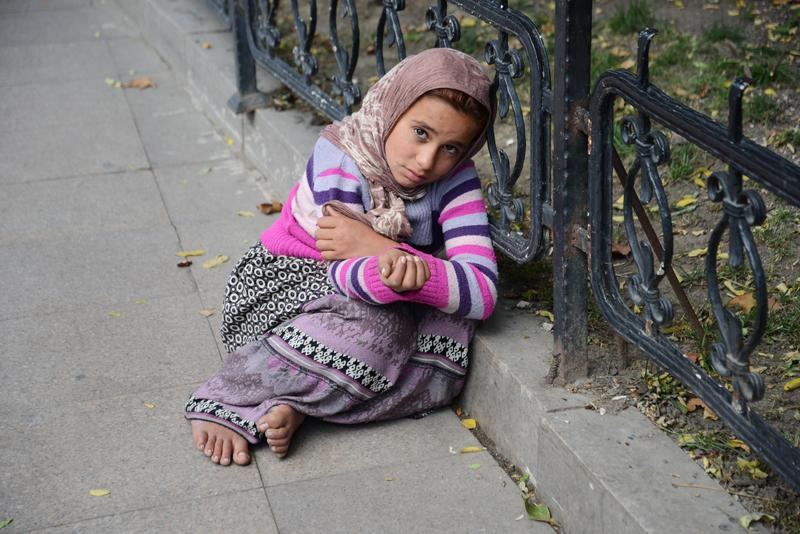 Syrisches Flüchtlingsmädchen.