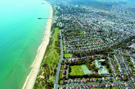 Sandstrand in Bournemouth.
