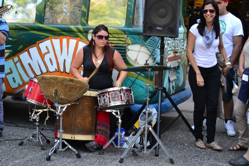 Straßenmusiker in Lastarria.