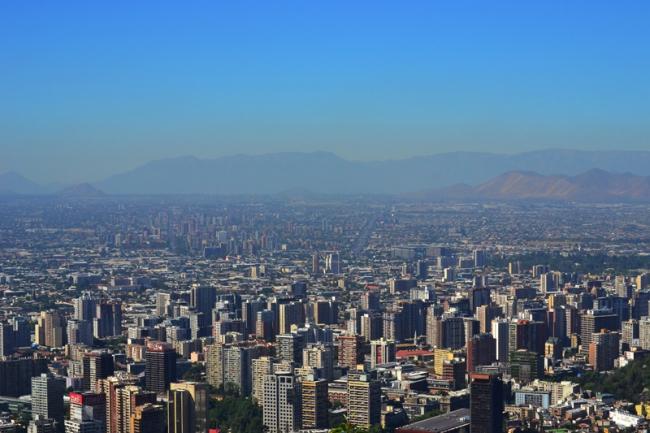 Blick auf Santiago.