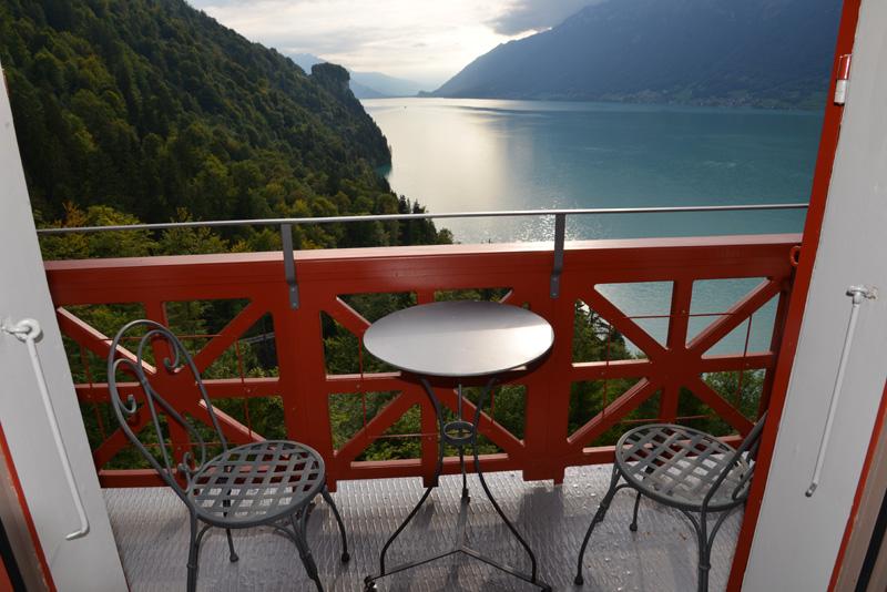 Blick vom Bellevue-Zimmer auf den See.