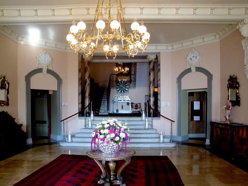 Lobby im Hotel Giessbach.