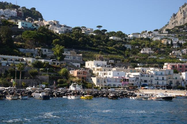 Der Hafen von Capri.