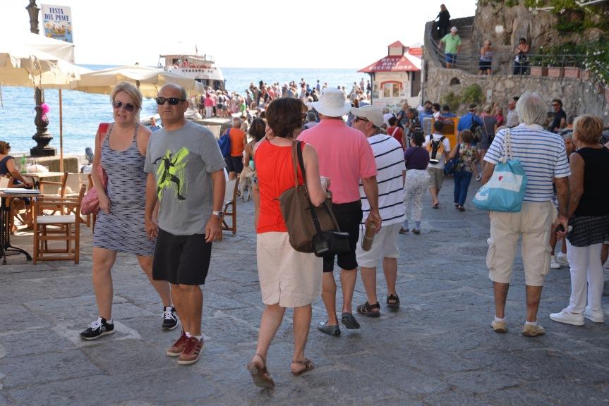 Massentourismus in Positano.