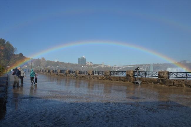 Regenbogen über der Niagarafällen.