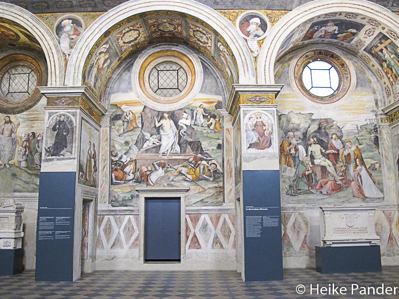 Fresken im Nonnenchor, ehem. Benediktinerkloster San Salvatore,