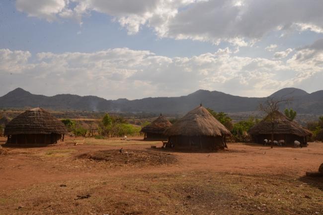 karamojong-hutten